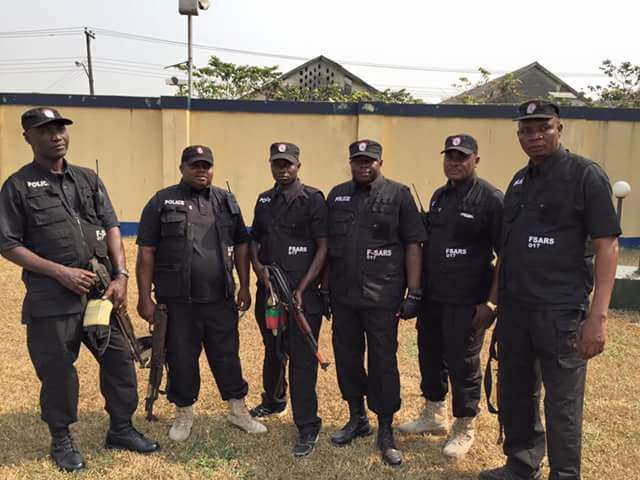 The United Kingdom Government provided training and equipment to the Special Anti-Robbery Squad (SARS) of the Nigeria Police.