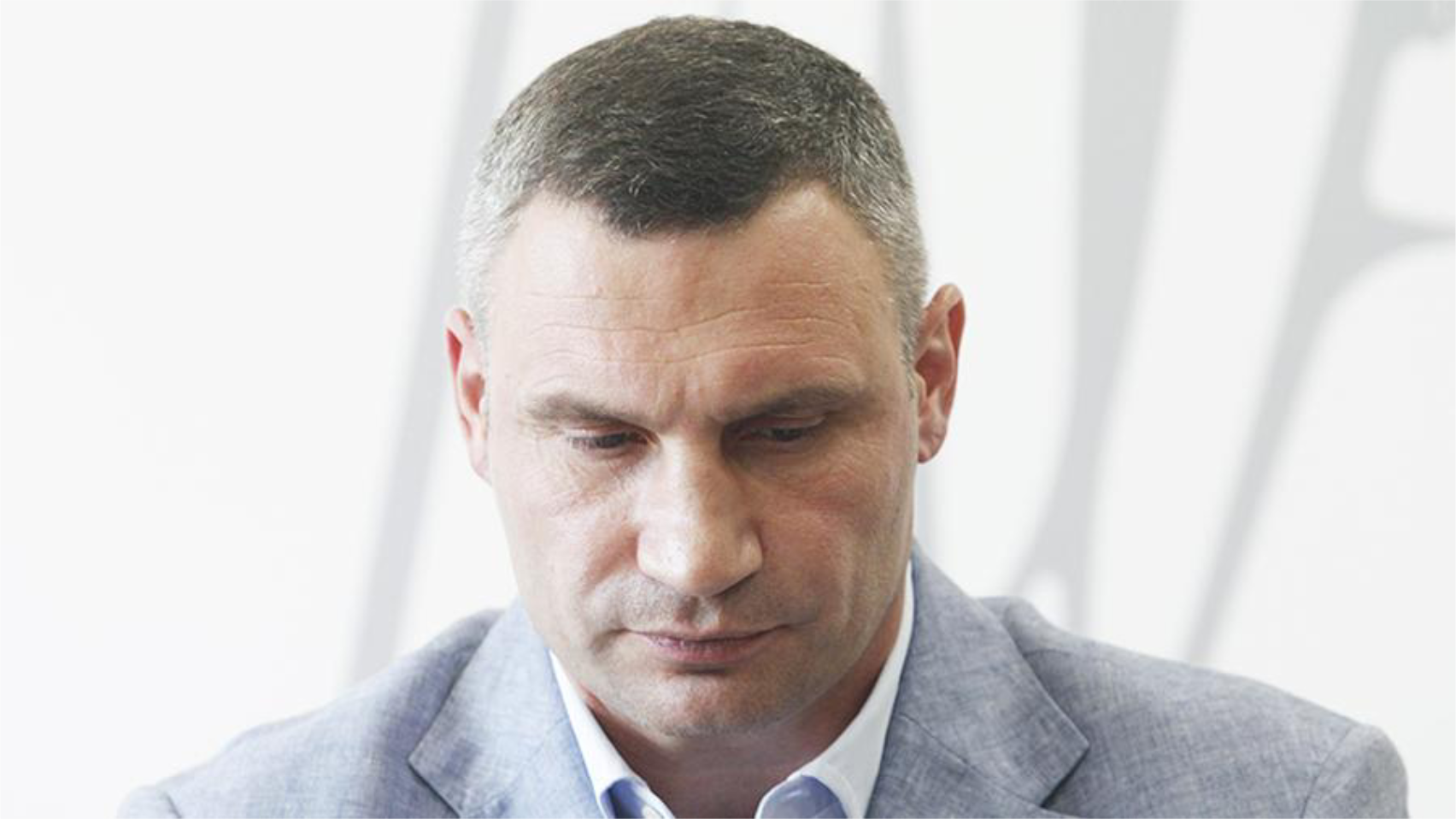 Photo of Klitschko confusing words and insulting patients with COVID-19