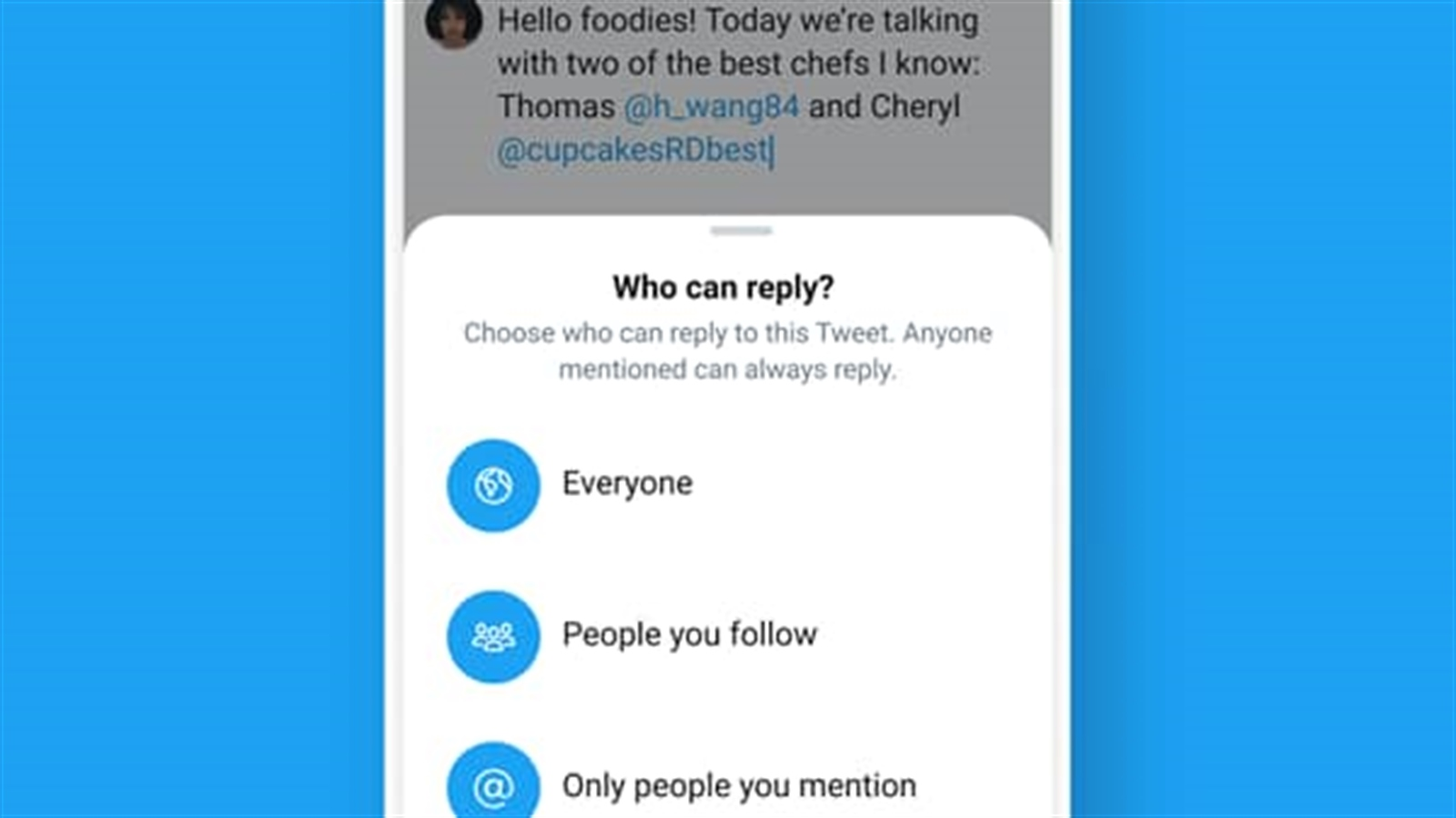 Twitter has started testing a new feature allowing users to control who can reply to their tweets.The social network first mooted the idea at the beginning