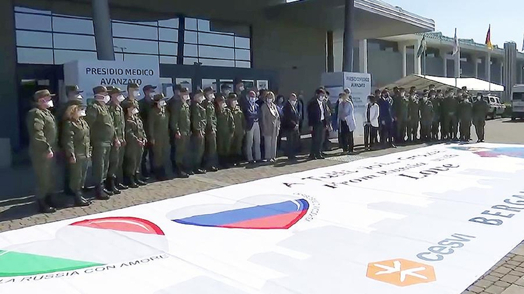 Photo of First plane with the Russian military left Italy