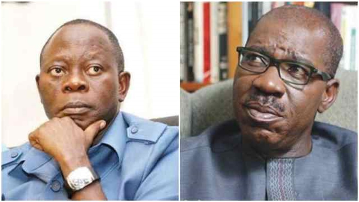 Godwin Obaseki, the Governor of Edo state, says that Adams Oshiomhole, the former National Chairman of the All Progressives Congress (APC), is angry