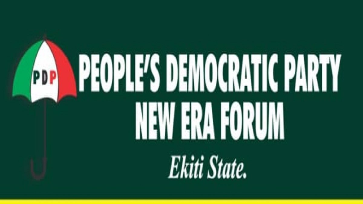 A newly formed political group of the Peoples Democratic Party (PDP), Ekiti State chapter known as New Era Forum (NEF), has called for urgent end to the crisis tearing