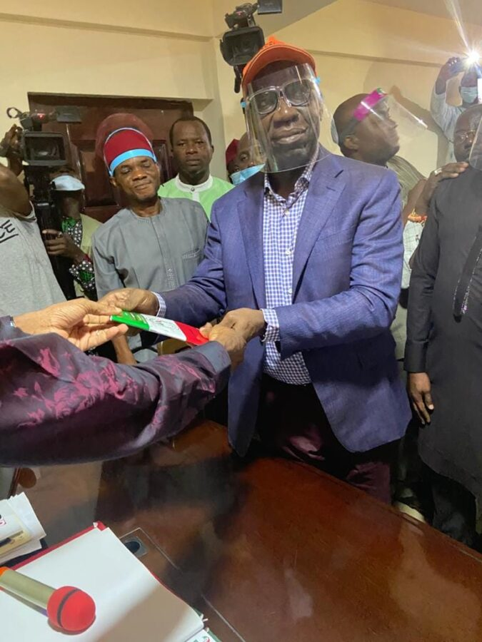 Edo state Governor Godwin Obaseki described the temporary ban barring him from participating in the people's Democratic party primaries as an attempt