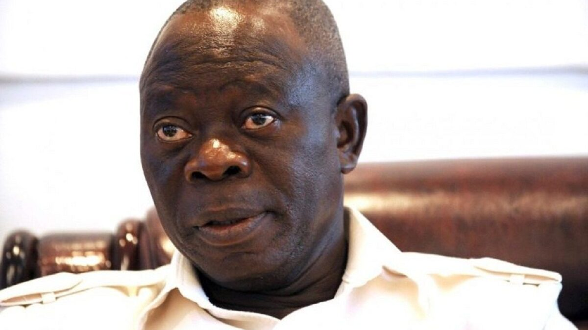 "Photo of ""Why I was moved to tears on the day of the election,"" Oshiomhole finally speaks"