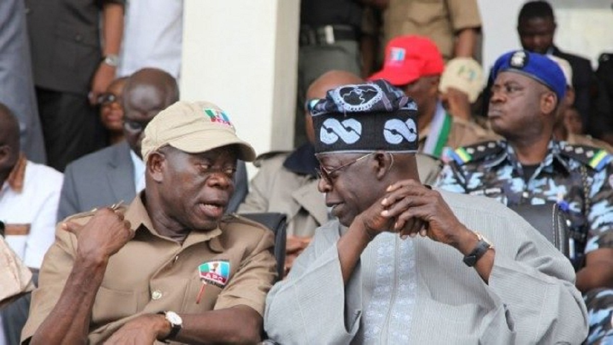 "Tinubu said that although Oshiomhole ""tried his best"" by overseeing the party's Affairs for two years, he acted"" too little, too late "" in addressing some of the pressing issues that arose."