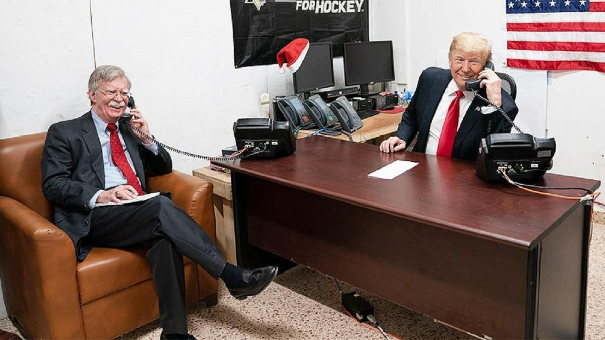 "Photo of Trump called his Ex-aide Bolton ""a war-seeking fool"""