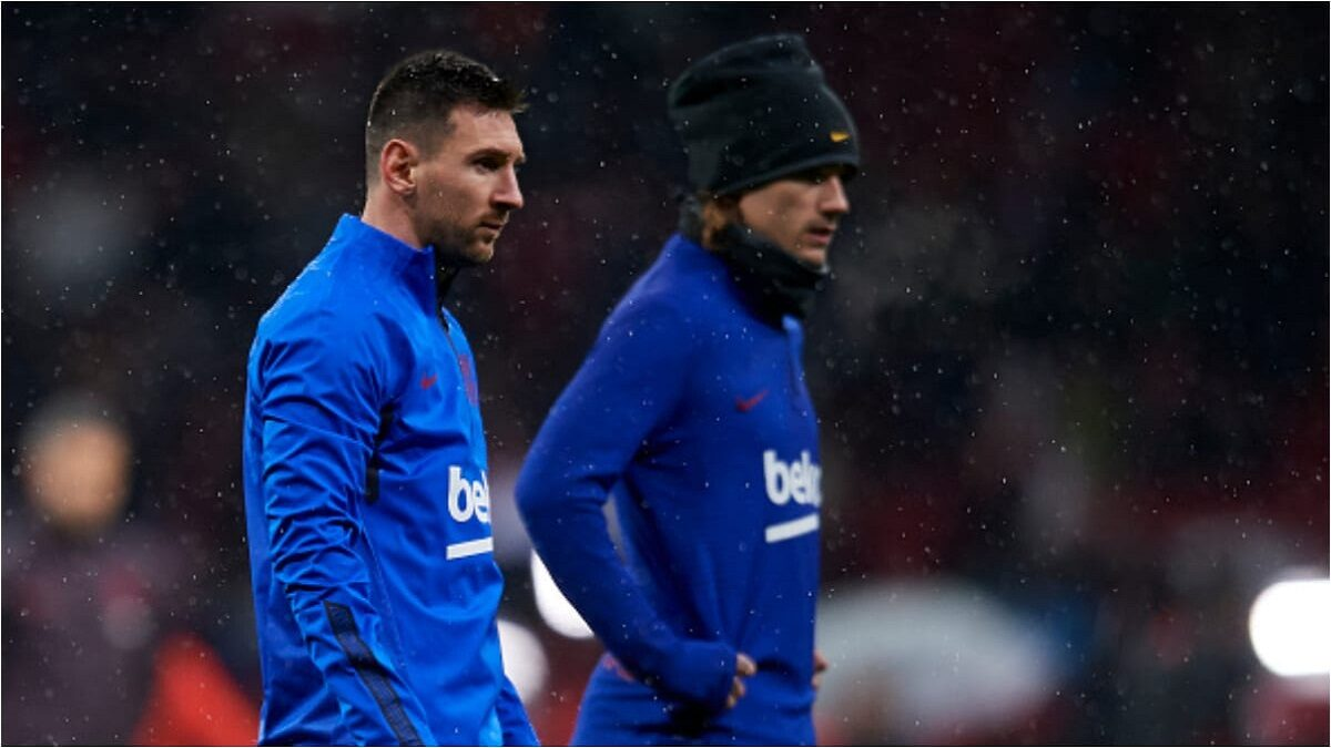 Photo of Confusion at camp Nou as Messi in serious battle with 1 Barcelona star in training