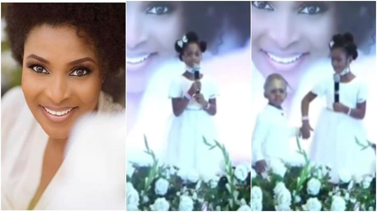 Photo of Touching moment Ibidunni Ighodalo's daughter sang songs at her mother's service (video)