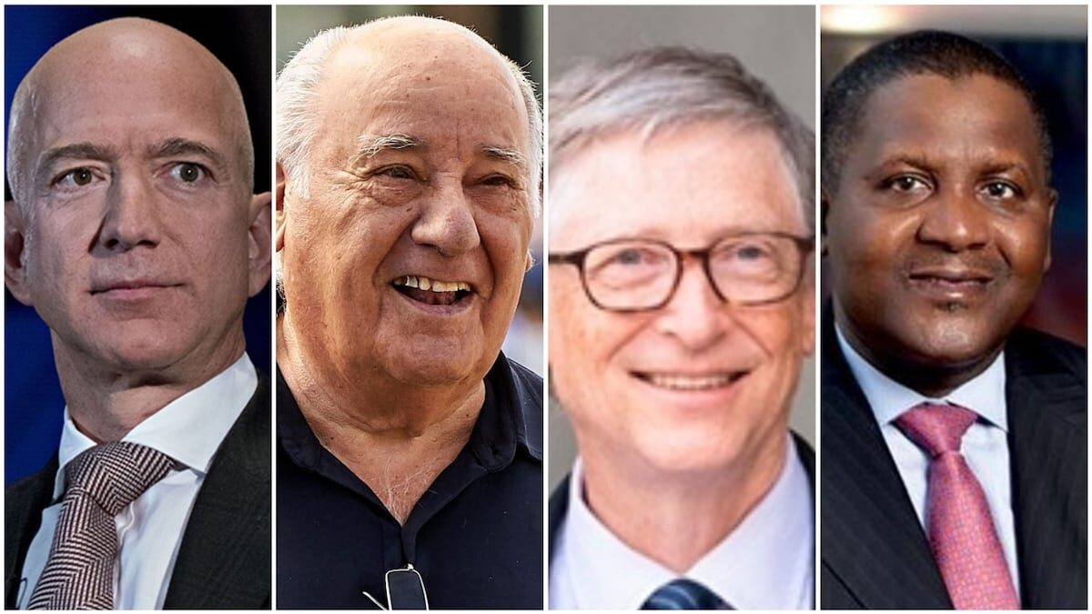 Photo of Top 7 richest people in the world has finally been revealed (see where Aliko Dangote and Mike Adenuga stand)