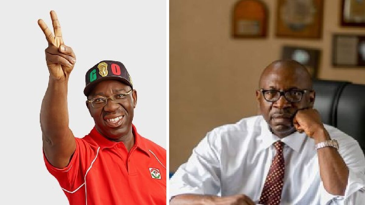 Photo of Ize-Iyamu is a little boy, can't defeat me – Governor Obaseki