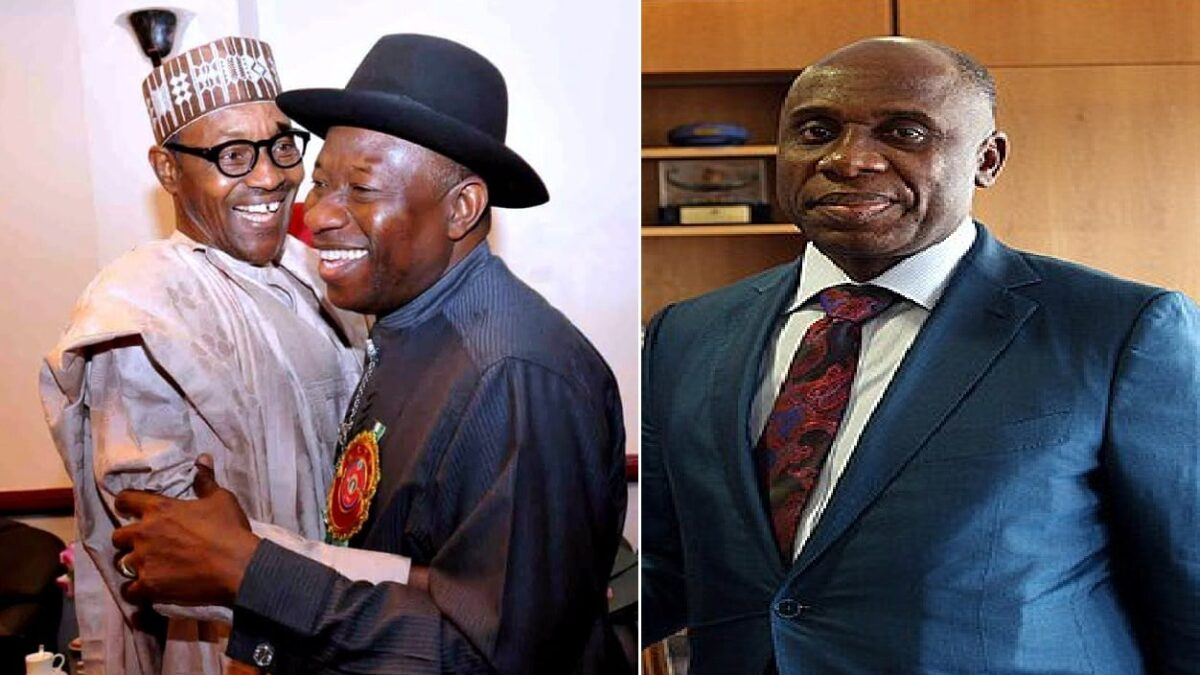 Goodluck Jonathan: I am grateful to Buhari, Amaechi
