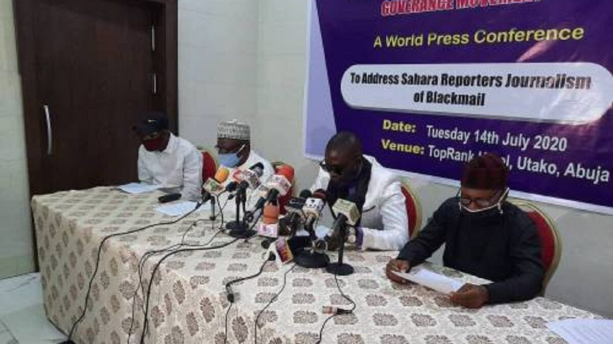 Malami: Group Holds A Press Conference Against The Sahara Reporters