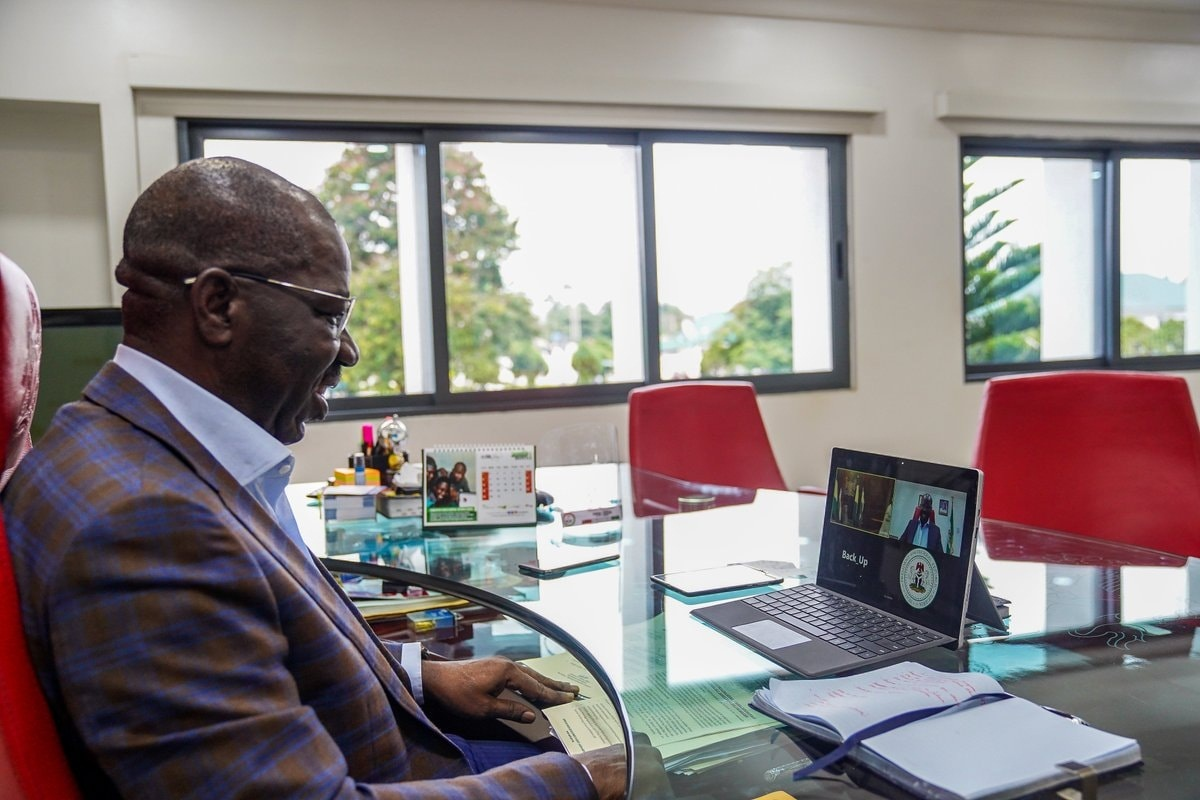 Obaseki finally talks about his relationship with President Buhari before the poll