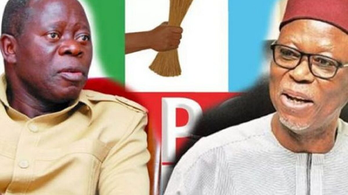 Oshiomhole, Oyegun, part of the APC campaign group for Edo Guber