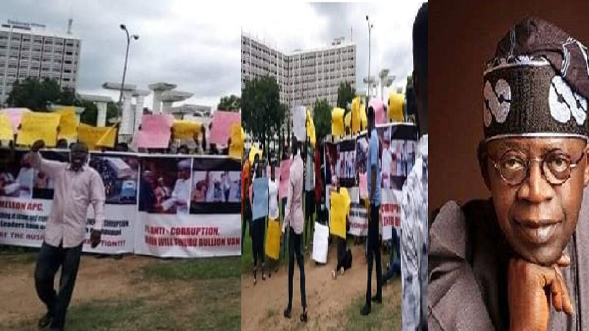 Protesters demand Tinubu's arrest over 2019 election bullion van cash
