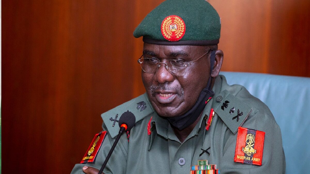 Insecurity: why Nigeria is safer now than it was five years ago-General Buratai
