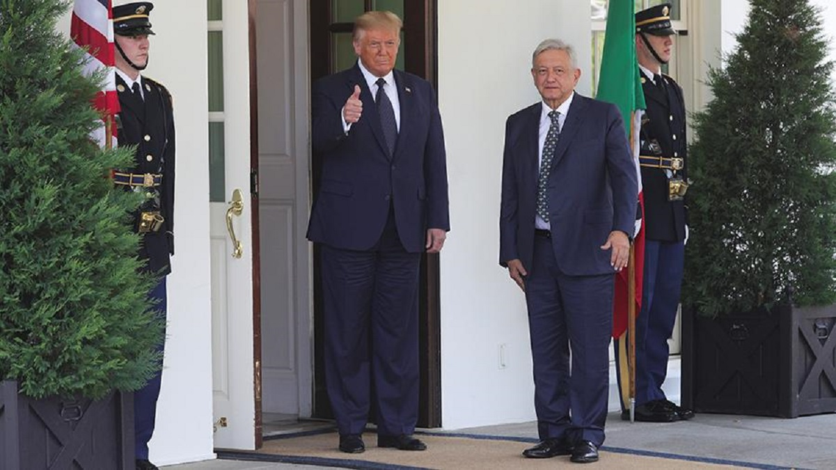 Photo of Trump met with the President of Mexico