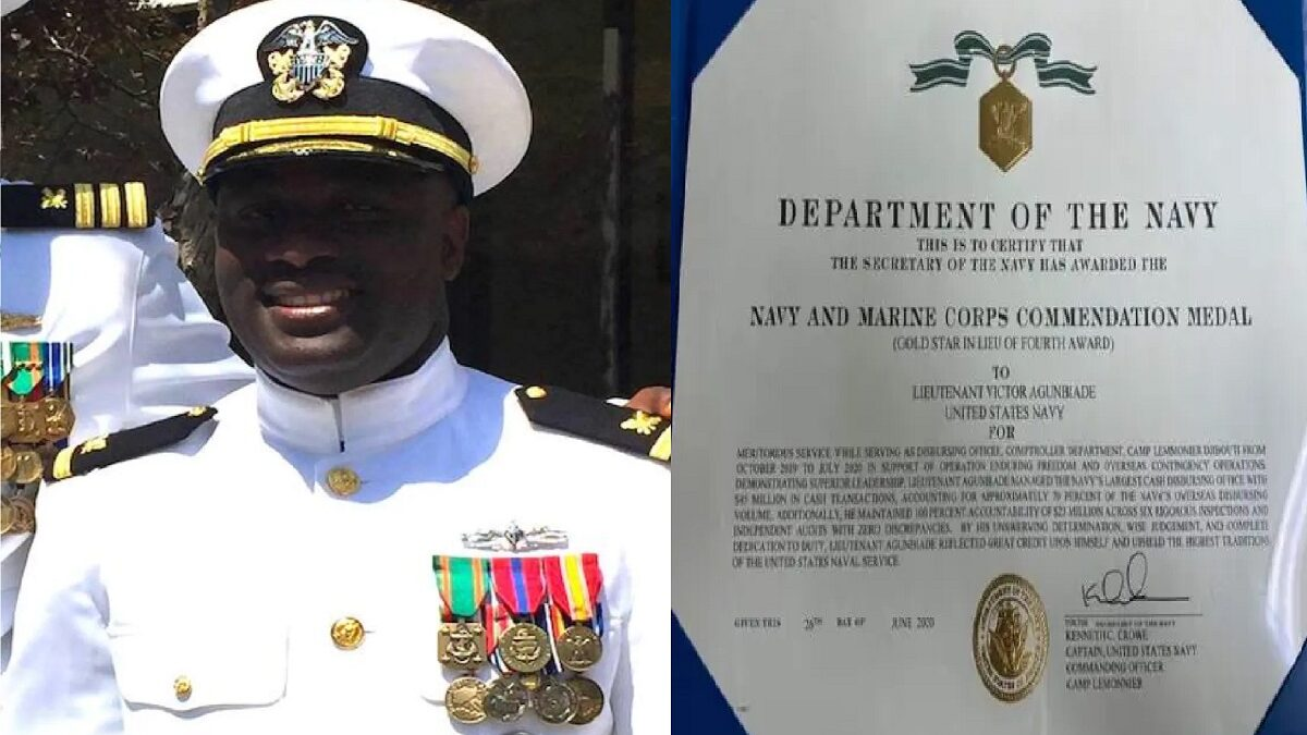 US Navy Honours Nigerian Officer For Accountability (Photo)
