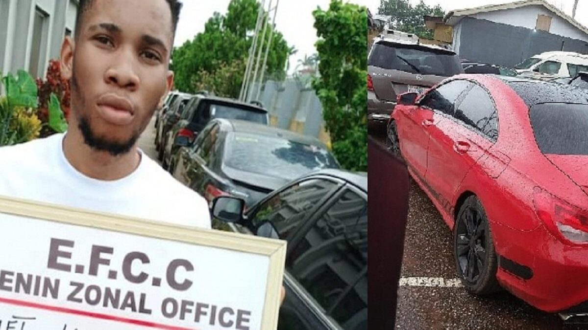 "Photo of EFCC arrests 22-year-old student, mother, girlfriend for "" Internet fraud'"