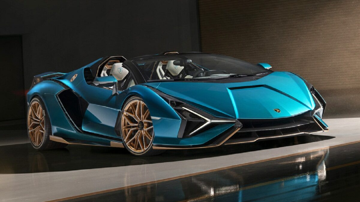 Lamborghini sian hybrid super car, now a Roadster