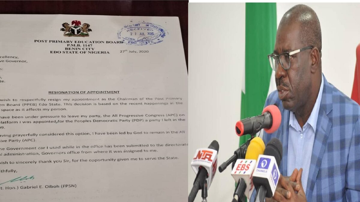 The Director-General of Obaseki / Shaibu movement, resigns, joins APC