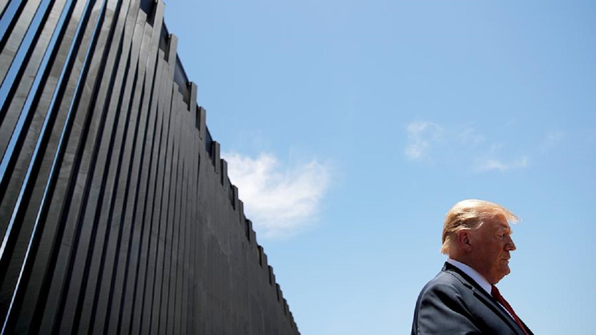 Trump announced progress in building a wall on the border with Mexico