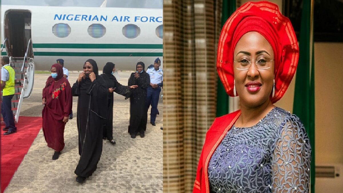 Photo of President Buhari's wife, Aisha, preaches against medical tourism, after treatment in Dubai