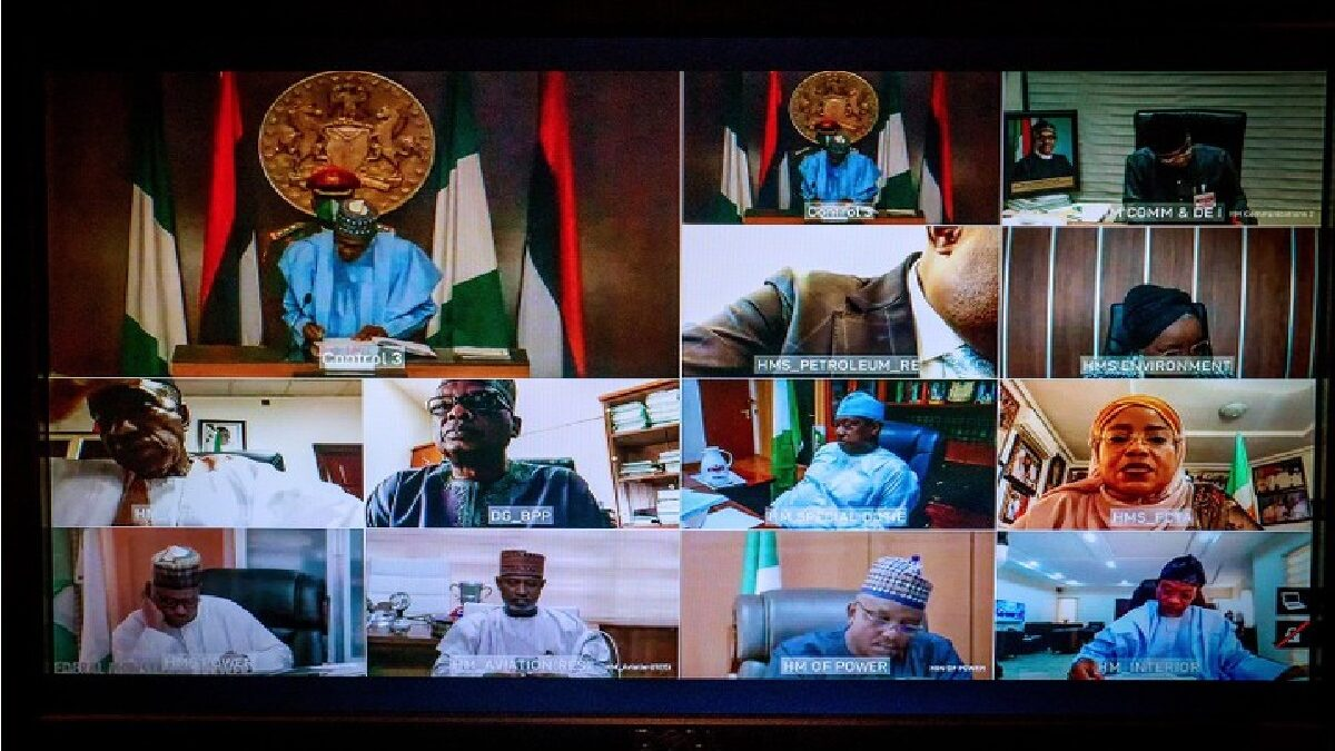Photo: President Buhari swears in 12 permanent secretaries