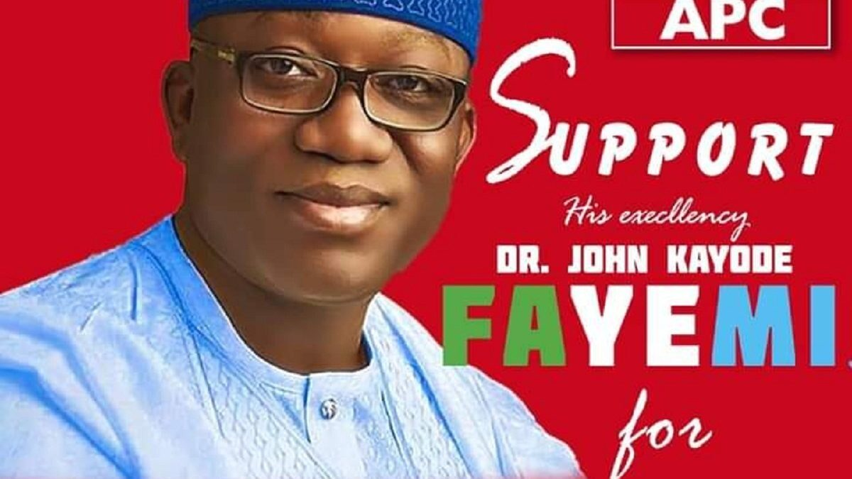 2023 Election: Fayemi to joins presidential race as his ally reveals a poster on Social Media