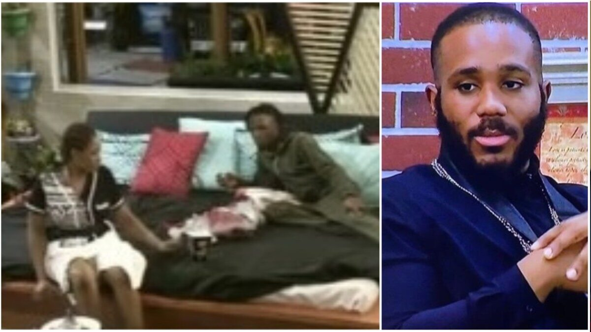 BBNaija: After breaking up with Kiddwaya, watch the moment Erica gets emotional with Laycon on the bed as they talk (video)