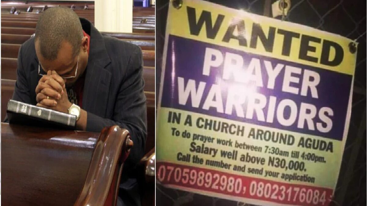 Lagos Church poster advertising prayer warriors goes viral (photo)