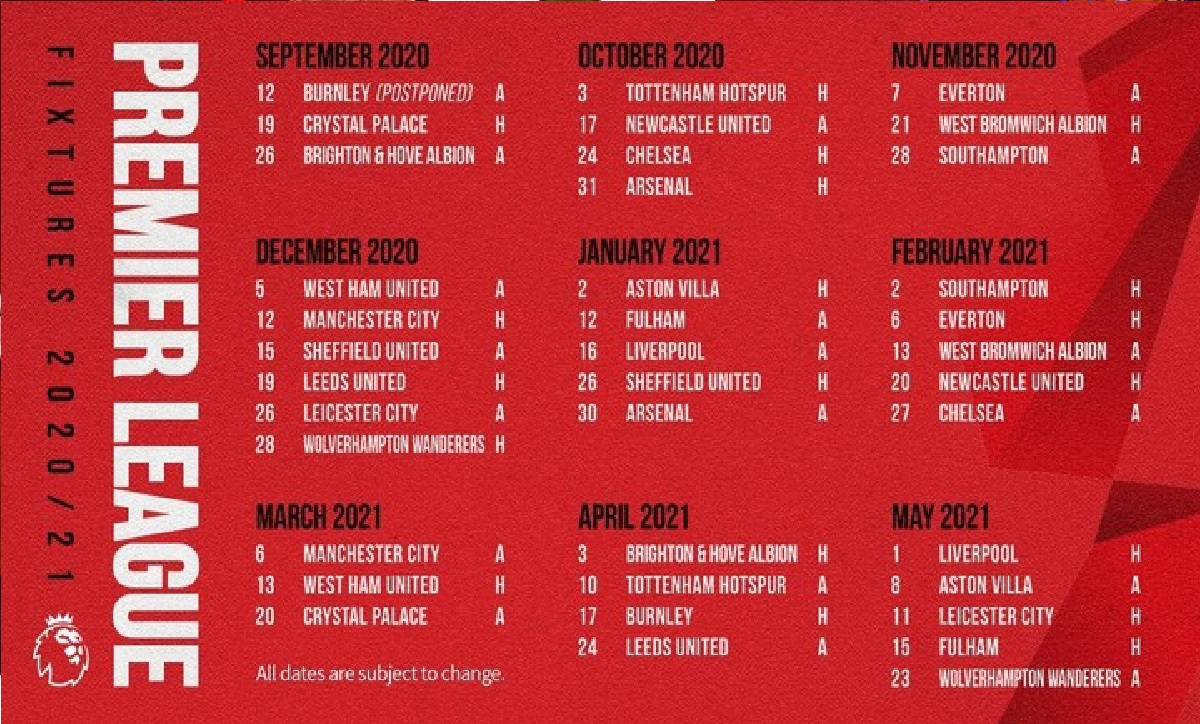 Premier League Fixtures for 2020-2021 in full: find out ...