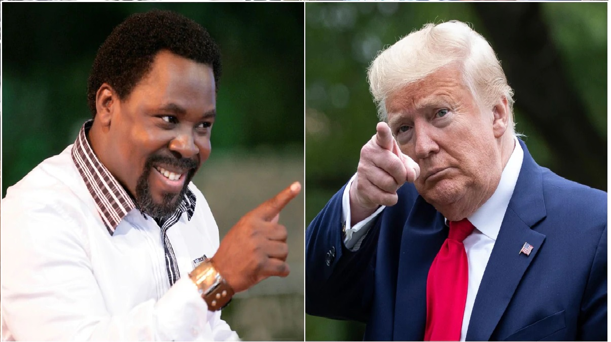 TB Joshua sends panic into the White house as he releases a prophecy about US President Donald trump