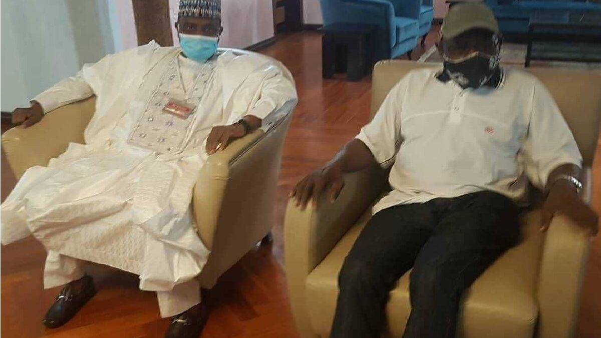Political intrigues as Tambuwal visits Obasanjo, believes the former President is still relevant (photo)
