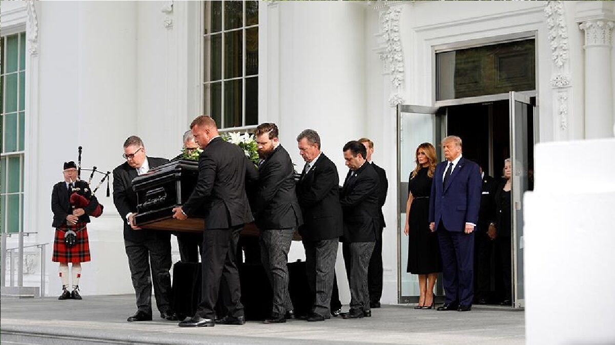 Farewell ceremony for Trump's brother was held at the White house