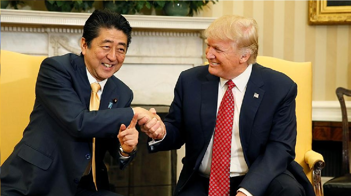 Trump in conversation with Abe called him the greatest prime minister of Japan