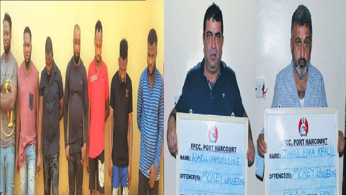 Photo of EFCC arrests 7 Yahoo Boys, 2 lebanese for Conviction in Enugu, Port Harcourt