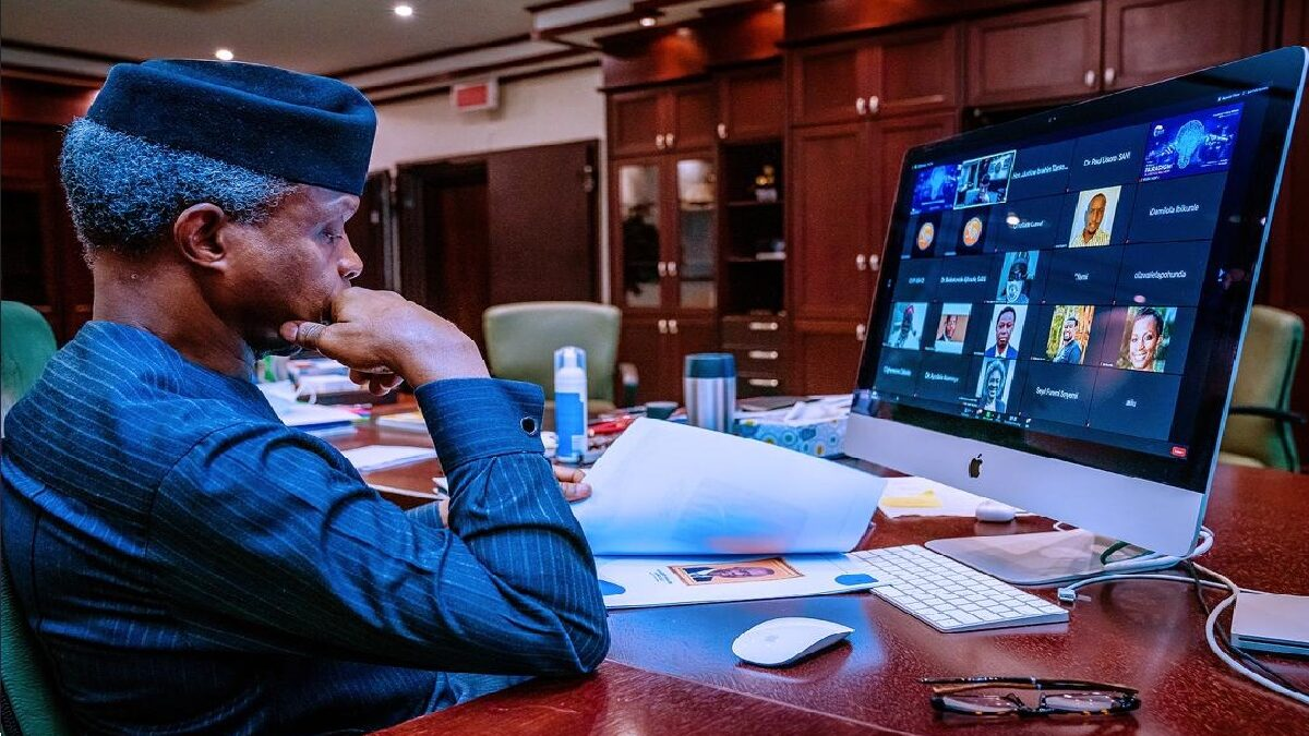 Osinbajo Advocates Videoconferencing Software For Nigerian Courts