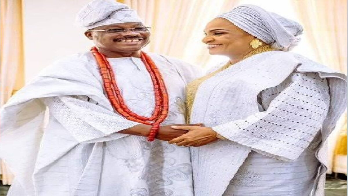 Florence Ajimobi, the wife of the late Oyo Governor Abiola Ajimobi, says her husband is in heaven.