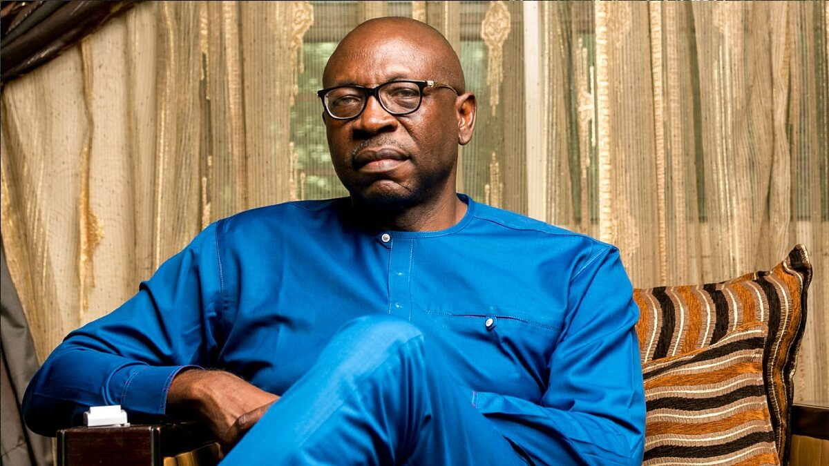 Photo of Oshiomhole is not my godfather, he works for me- Ize-Iyamu