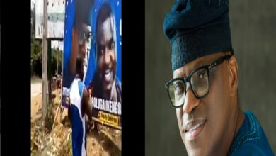 Ondo Elections: Politician turned Native Doctor Fortifying Eyitayo Jegede's Billboard(Video)