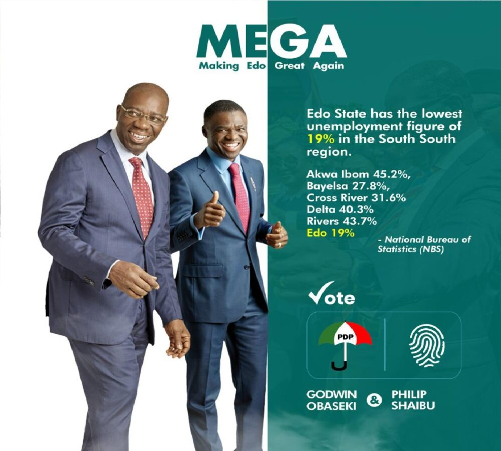 Edo State governor, Godiwn Obaseki and his deputy, Philip Shaibu have been sworn-in for a second term in office.