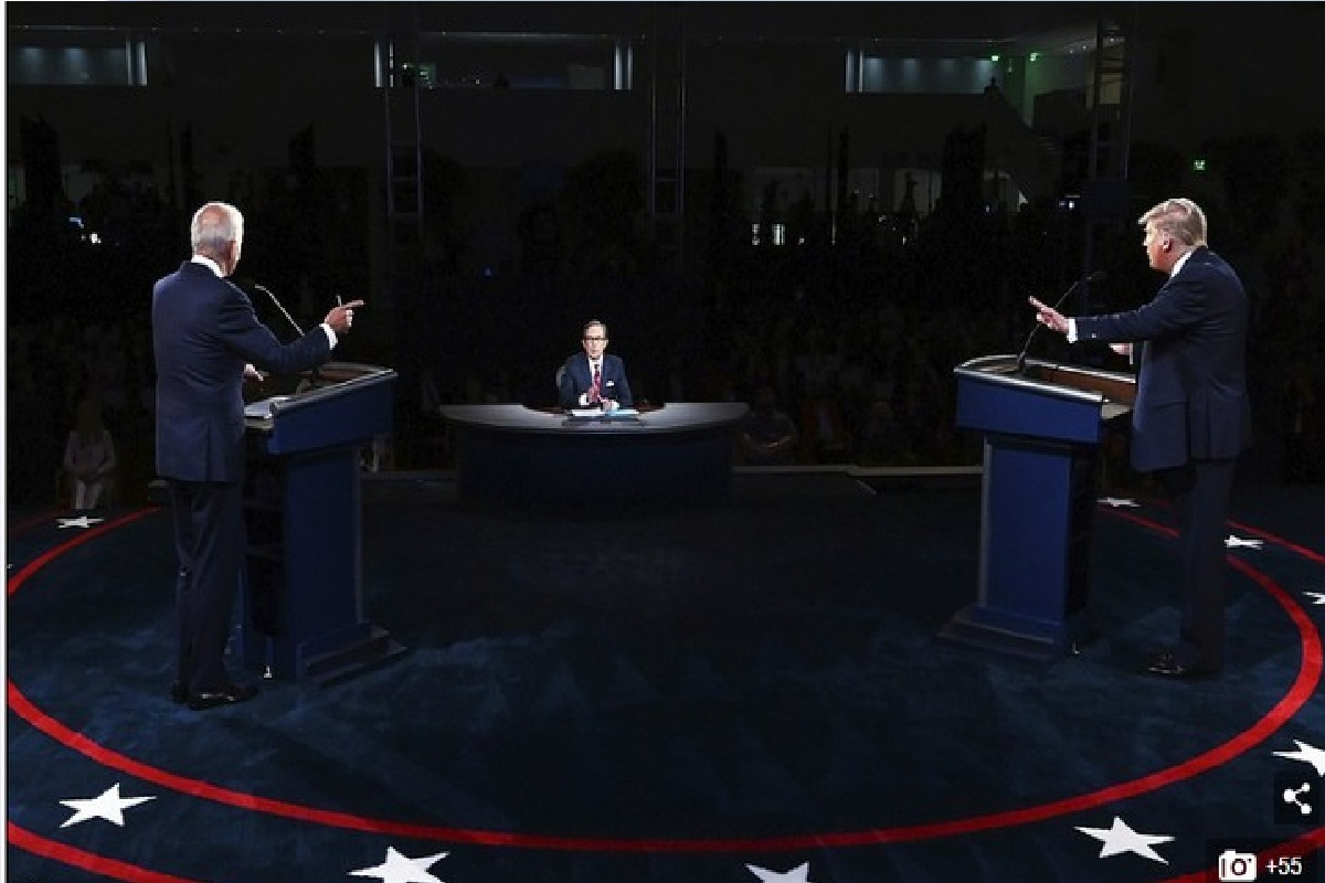 War Of Words As Trump & Biden Square Off In First Presidential Election Debate