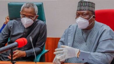 Photo of 'Go Back Home, Stop #EndSARS Protests' – Ahmad Lawan, Gbajabiamila Tell Protesters