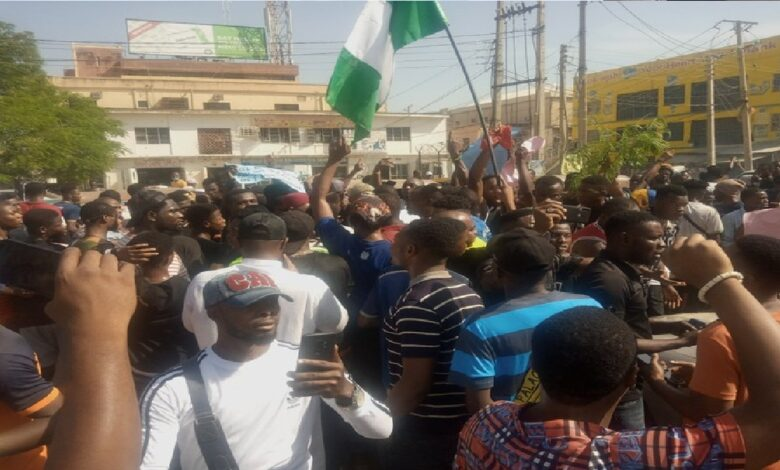 #EndSARS: Protest In Kano Against Insecurity In The North (Video)