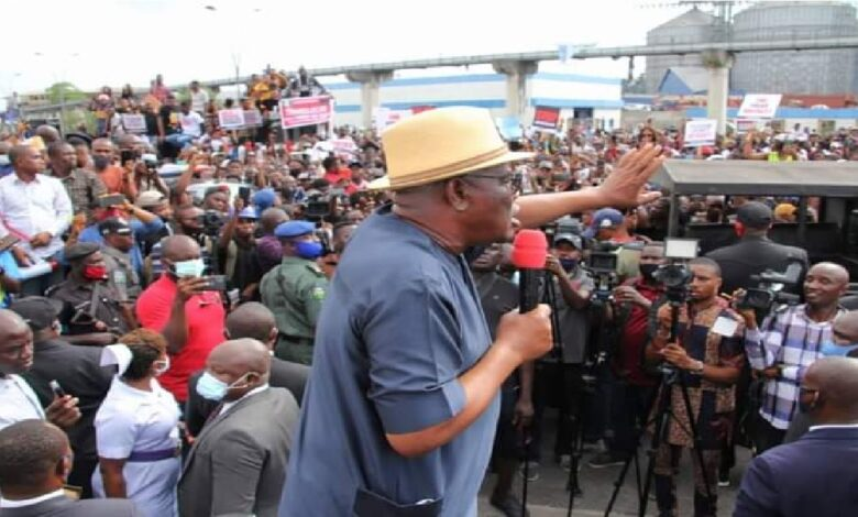 Wike Backtracks, Addresses EndSARS Protesters, calls for total reform of Nigeria police