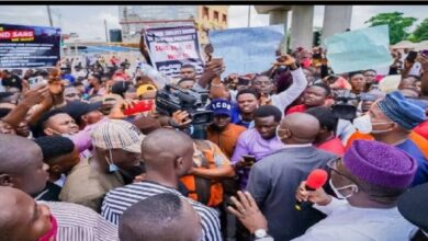 Commercial and sundry activities were paralyzed in Ado-Ekiti, the Ekiti State capital on Friday as youths protesting for an end