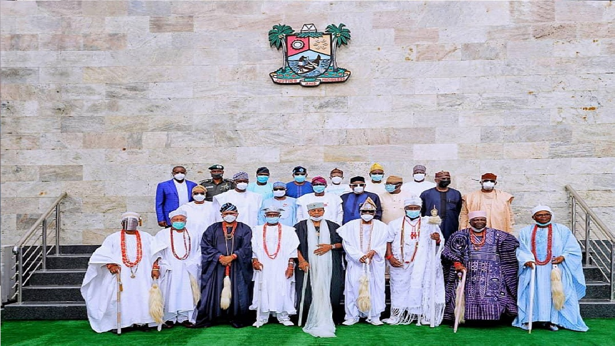 Oba Akiolu makes first public appearance, blames politicians for #ENDSARS protests