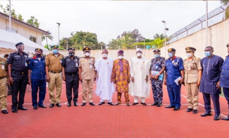 Tinubu, Aregbesola, Police Minister, Paramilitary Chiefs Meet In Lagos