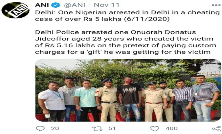 Nigerian Arrested In India For N2.6 Million Facebook Fraud (Photo)